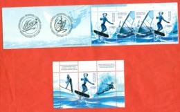 Belarus 2001.Booklet And Block.Unused Stamps. - Water-skiing