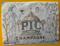 11830 -  Le Champagne Des Amoureux PIC Illustration Peynet 150 Cl - Champagne