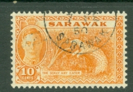 Sarawak: 1950   KGVI - Pictorial   SG177     10c   [Pangolin]   Used - Sarawak (...-1963)