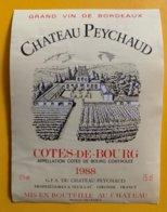 11832 -  Château Peychaud 1988 Côtes De Bourg - Bordeaux