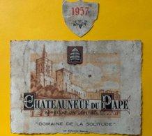 11833 -  Châteauneuf Du Pape Domaine De La Solitude 1957 - Côtes Du Rhône