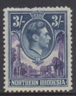Northern Rhodesia - 1938 KGVI 3s (**) # SG 42 - Rhodesia Del Nord (...-1963)