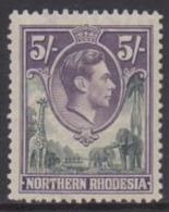 Northern Rhodesia - 1938 KGVI 5s (**) # SG 43 - Rhodesia Del Nord (...-1963)