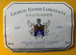 11835 -  Château Bastor-Lamontagne 1987 Sauternes - Bordeaux