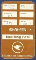SHAHEEN  AIR INTERNATIONAL USED BOARDING PASS - Instapkaart