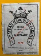11838 - Château Marquis D'Alesme 1978 Margaux - Bordeaux