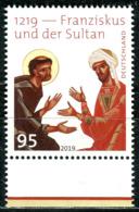 BRD - Mi 3498 - ** Postfrisch (U) - 95C    Franziskus Und Der Sultan - Ausgabe 10.10.2019 - [7] Federal Republic