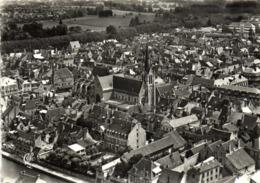 CPSM  Grand Format MONTARGIS Vue Generale Aérienne (Bret) Eglise De La Madeleine (1525) RV Cie Des Arts Photomecaniques - Montargis