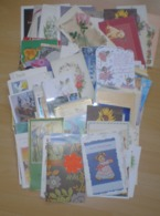 LOT  De 164 Cartes Postales Fantaisies Voeux -Fete-Anniversaire-Noel-Bonne Année Etc............. - 100 - 499 Cartes