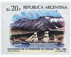 Ref. 576888 * MNH * - ARGENTINA. 1984. CENTENARY OF THE FOUNDATION OF USHUAIA AND PUERTO DESEADO . CENTENARIO DE LA FUND - Eisenbahnen