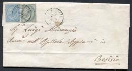 Z1822 ITALIA REGNO 1865 Piego Da Albiate 1 Ago 65 (annullo C2) Per Bosisio, Affrancato Con 15 C. + 5 C. (Sassone L18 + L - 1861-78 Vittorio Emanuele II
