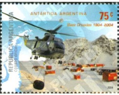 Ref. 193103 * MNH * - ARGENTINA. 2004. 100th ANNIVERSARY OF SOUTH ORKNEY ISLANDS METEOROLOGICAL RESEARCH STATION . 100 A - Helicopters