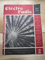 Revue Professionnelle Mai 1958 / Electrophone - Radio - Télévision / Les Platters / Disques - Fernsehen