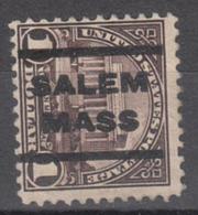 USA Precancel Vorausentwertung Preo, Locals Massachusetts, Salem 571-202 - United States