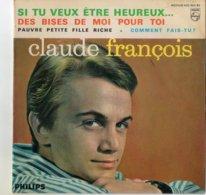 """Claude François 45T 4 Titres """"Pauvre Petite Fille Riche, Des Bises De Toi Pour Moi"""" - Other - French Music"""