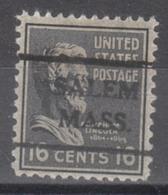 USA Precancel Vorausentwertung Preo, Locals Massachusetts, Salem 716,5 - United States