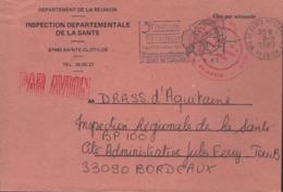 """Réunion  974 St Denis Messageries 8-9-87 Flamme =o """" 3è Floralies De L'océan Indien 2 Au 11 Octobre 19....... """" - Poststempel (Briefe)"""
