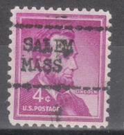 USA Precancel Vorausentwertung Preo, Locals Massachusetts, Salem L-1 M, Var 1 - United States