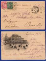 CV 106 – 24.08.1900 – Cartolina Illustrata Di Ostenda Spedita Da Ostenda Per Santa Maria Capua Vetere. - 1893-1900 Barba Corta