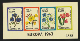 Europa Isle Of Pabay 1963 S/Sheet Mnh Flowers. - Local Issues