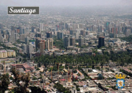1 AK Chile * Blick Auf Die Hauptstadt Santiago De Chile - Luftbildaufnahme * - Chile
