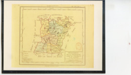 1ère Carte Des Départements.Cliché Bibliothèque Nationale. Editions 1789.Angoulême - Unclassified