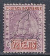 Guyana N° 112 O Partie De Série :  72 C. Violet Et Brun-jaune Oblitération Plume Sinon TB - British Guiana (...-1966)