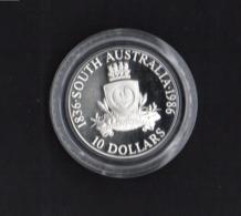 AUSTRALIA, 1986 STATES(SA) $10 SILVER PROOF COIN, 20g, 92.5% - Moneda Decimale (1966-...)