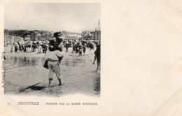 TROUVILLE Surpris Par La Marée Montante Carte Précurseur - Trouville