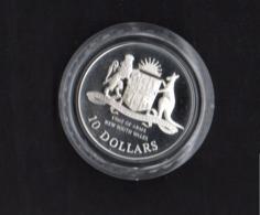 AUSTRALIA, 1987 $10 STATES(NSW) SILVER PROOF COIN, 20g, 92.5% - Moneda Decimale (1966-...)