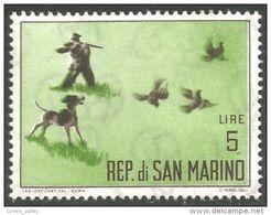 786 San Marino Chasse Perdrix Partridge Hunt Dog Chien MLH * Neuf CH Légère (SAN-31) - Shooting (Weapons)