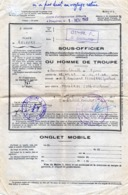 MILITARIA - BELFORT - 61é Régiment D'Artillerie -  3éme Batterie - Aspirant FOUGERES Gustave - Permission Libérable 1949 - Otros