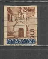 ESPAÑA 1936 BARCELONA EDIFIL NUM. 13 SIN DENTAR USADO - Barcelone