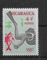 Thème Sports - Plongée - Nicaragua - Timbres Neufs ** Sans Charnière - TB - Tauchen