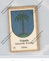 LIBYEN - TRIPOLIS - Stadtwappen - Abdullah-Vignette / Cinderella - Libyen