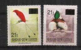 PAPOUASIE.   Oiseaux De Paradis    2 RARES Timbres Surchargés. Neufs ** - Papouasie-Nouvelle-Guinée