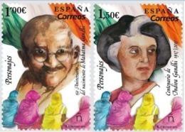 ESPAGNE SPANIEN SPAIN ESPAÑA 2019 PERSONALITIES: ANIV MAHATMA-INDIRA GANDHI SET 2V. MNH ED 5347-48 YV  5093-94 MI 5388-8 - 1931-Hoy: 2ª República - ... Juan Carlos I