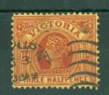 Australia - Victoria: 1901/10   QV    SG386b     1½d  Dull Red-brown/yellow   Used - Australia