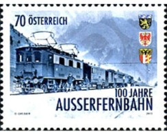 Ref. 306462 * MNH * - AUSTRIA. 2013. 100 ANIVERSARIO DEL TREN AUSSERFERN - 1945-.... 2de Republiek