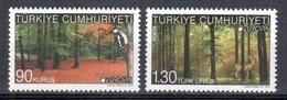 TURQUIA 2011 - TUQUIE - TURKEY - TURKEI - EUROPA CEPT - BOSQUES - 2 STAMPS - 2011