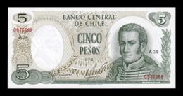 Chile 5 Pesos José Miguel Carrera 1975 Pick 149a SC UNC - Chili