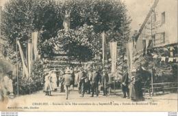42 CHARLIEU - SOUVENIR De La FETE MUTUALISTE  Du 4 Septembre 1904 Entrée Du Boulevard Thiers - Charlieu