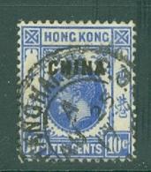 Hong Kong: 1917/21   KGV 'China' OVPT   SG6   10c   Used - Hong Kong (...-1997)