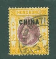 Hong Kong: 1917/21   KGV 'China' OVPT   SG11   30c   Used - Hong Kong (...-1997)