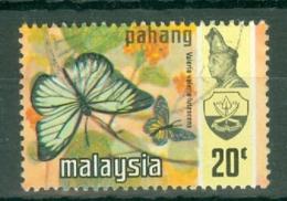Malaya - Pahang: 1971   Butterflies   SG102      20c   [Litho]  Used - Pahang