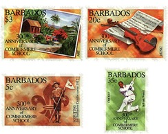 Ref. 37965 * MNH * - BARBADOS. 1995. 300th ANNIVERSARY OF COMBERMERE SCHOOL . 300 ANIVERSARIO DE COMBERMERE SCHOOL - Cricket