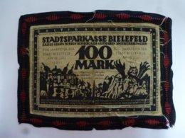GERMANY 100 MARK 1921 BIELEFELD RED EDGE RARE - [ 3] 1918-1933: Weimarrepubliek