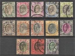 Transvaal 1904-09. Set ½d - 1 Pound (wmk MCA). SACC 266-273, SG 260-272. - Südafrika (...-1961)