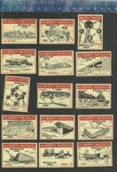 EXPO 1958 BRUXELLES  ATOMIUM PAVILJONS - EXPOSITION - BRUSSEL - BRUSSELS - WORLD EXHIBITION (RARE)  Matchbox Labels - Matchbox Labels