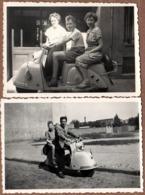 2 Photos Originales Motocyclisme & Scooter GLAS Allemand En 1955 - 125cc En 1951 - 150cc & 200cc En 1952. - Ciclismo